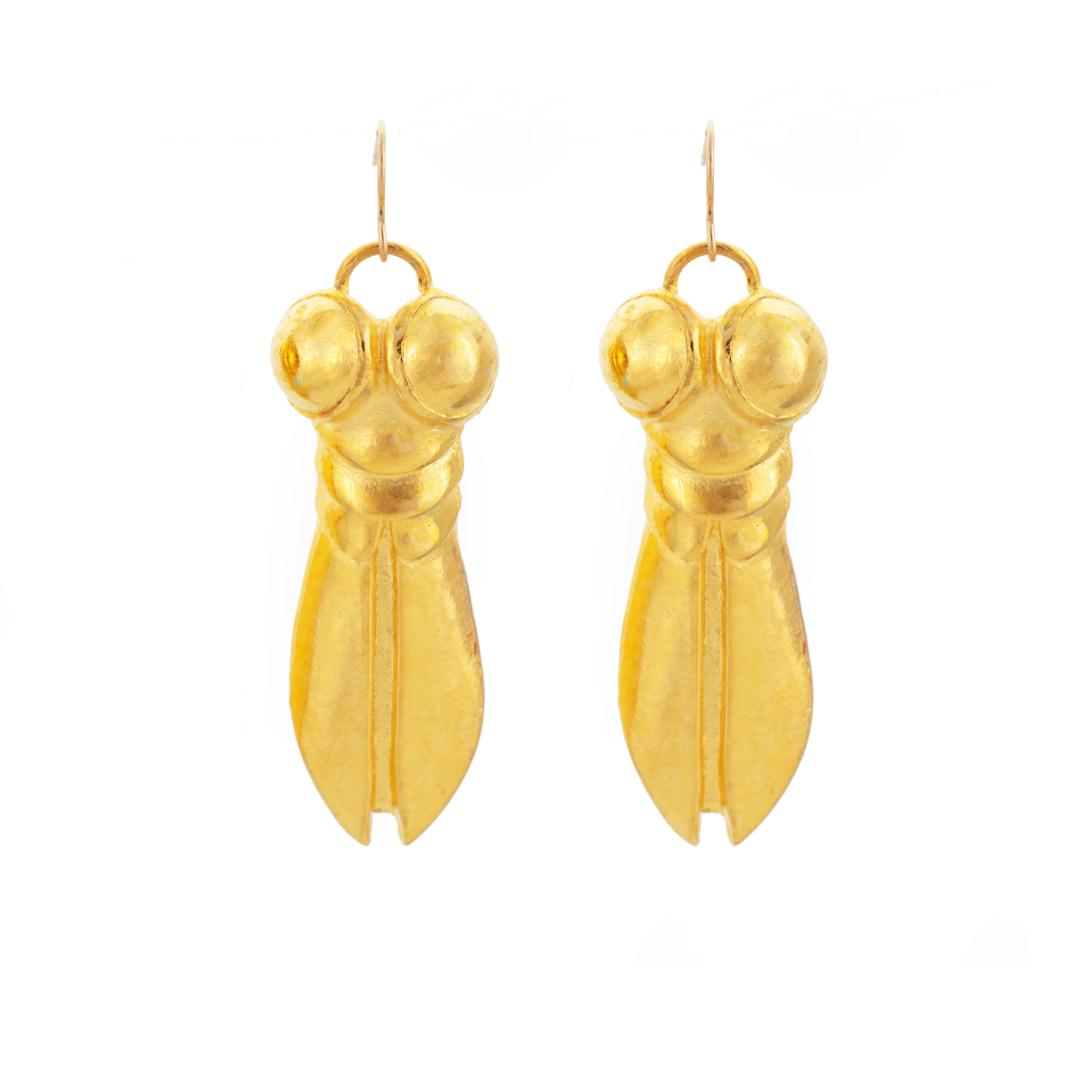 Gold-Plate Superfly Earrings