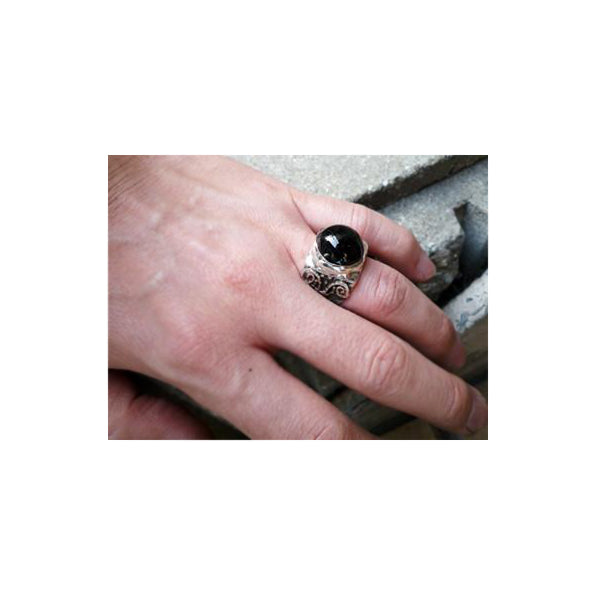 Black Onyx Ionic Column Ring