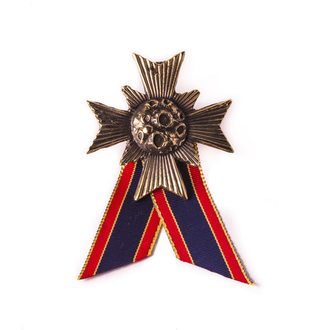 Comet Cross Ribbon Badge