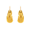 Gold-Plate Scarab Earrings