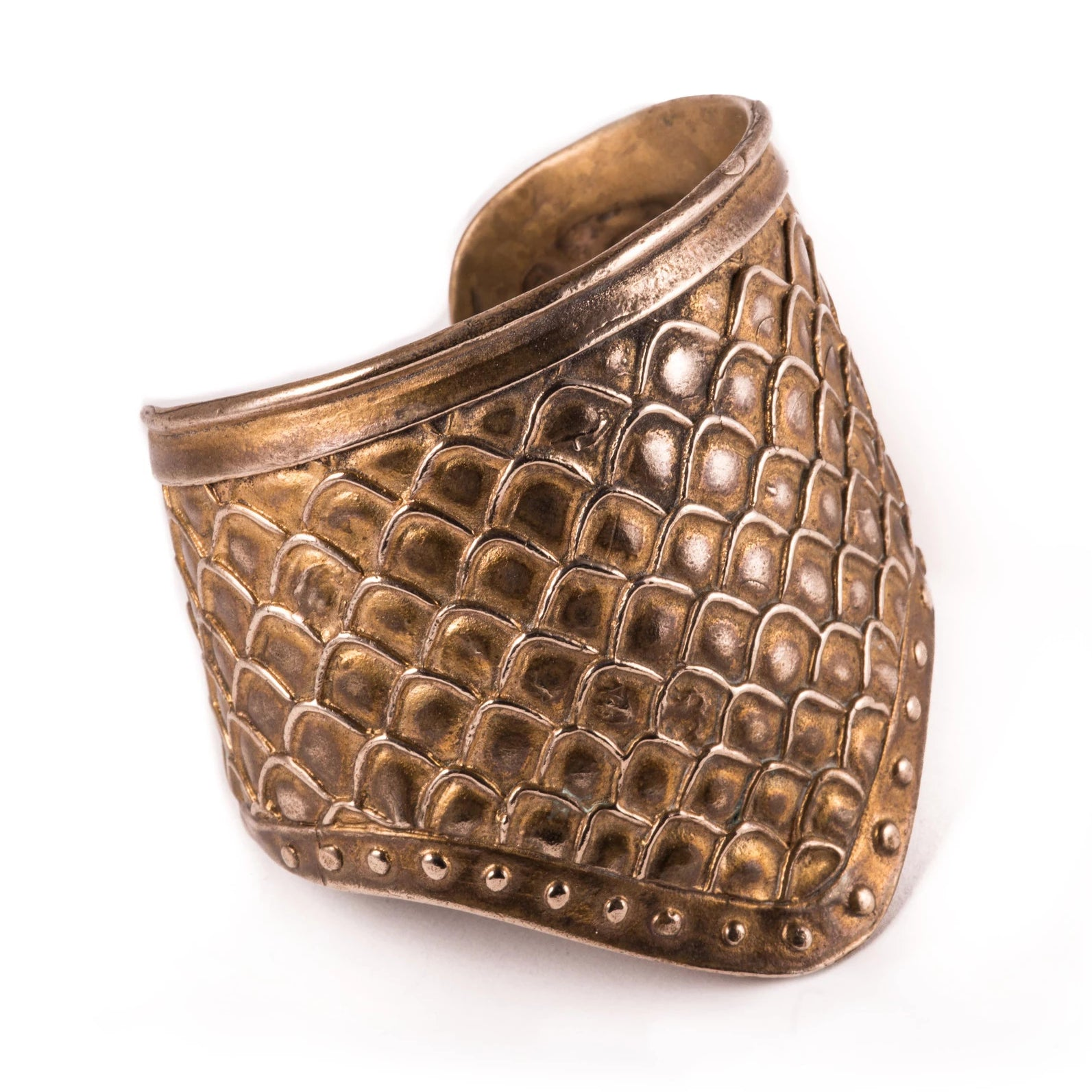 Bronze Dragon Scale Shield Cuff