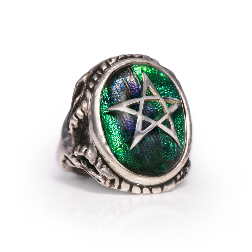Limited Edition Sacred Scarab Angel Heart Ring
