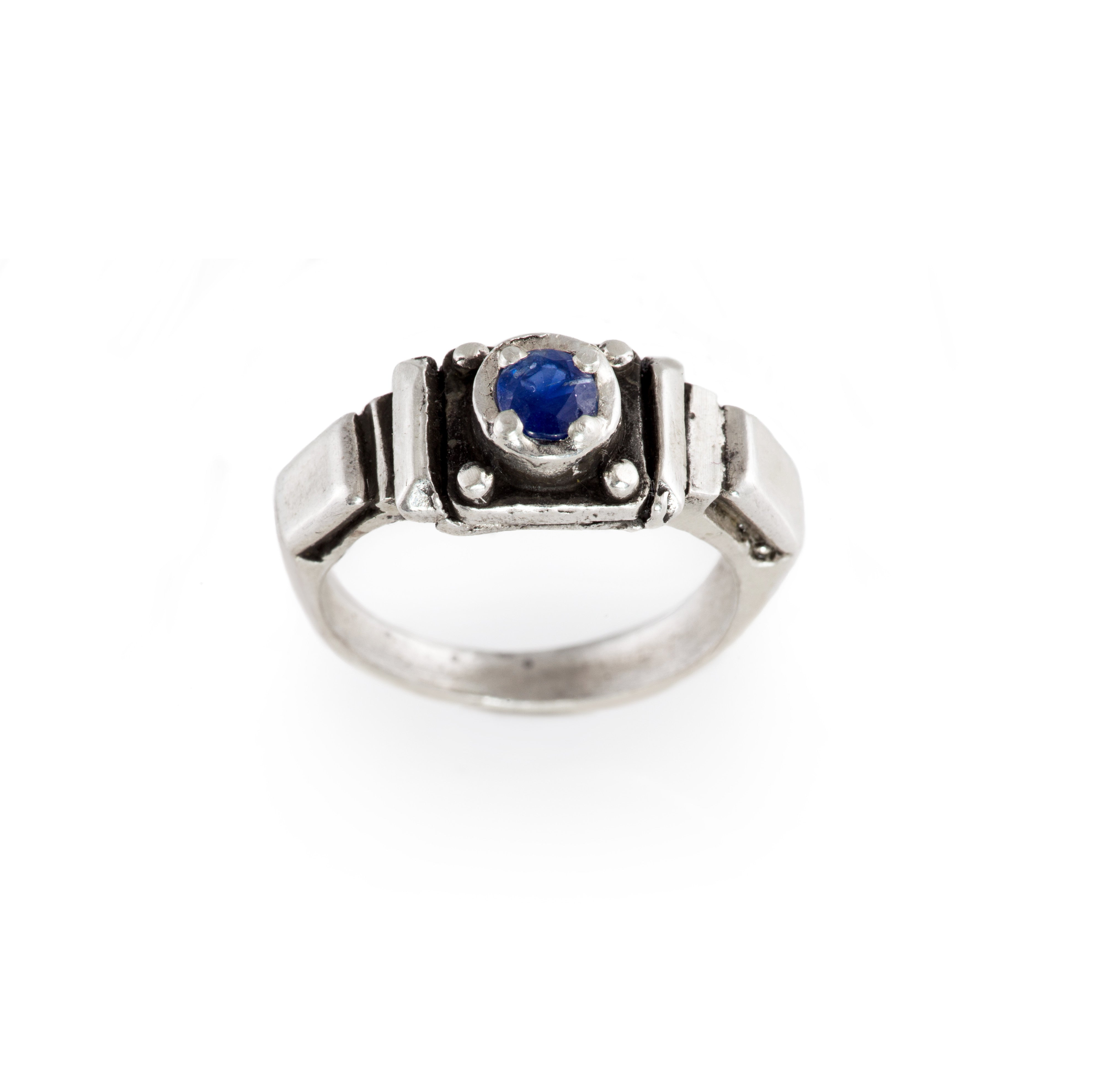 Sapphire Art Deco Band Ring