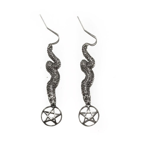 Serpent Pentagram Earrings