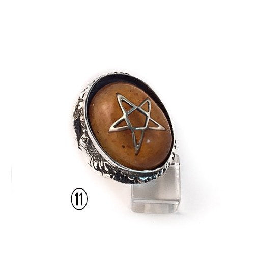 Vintage Magician's Star Angel Heart Ring