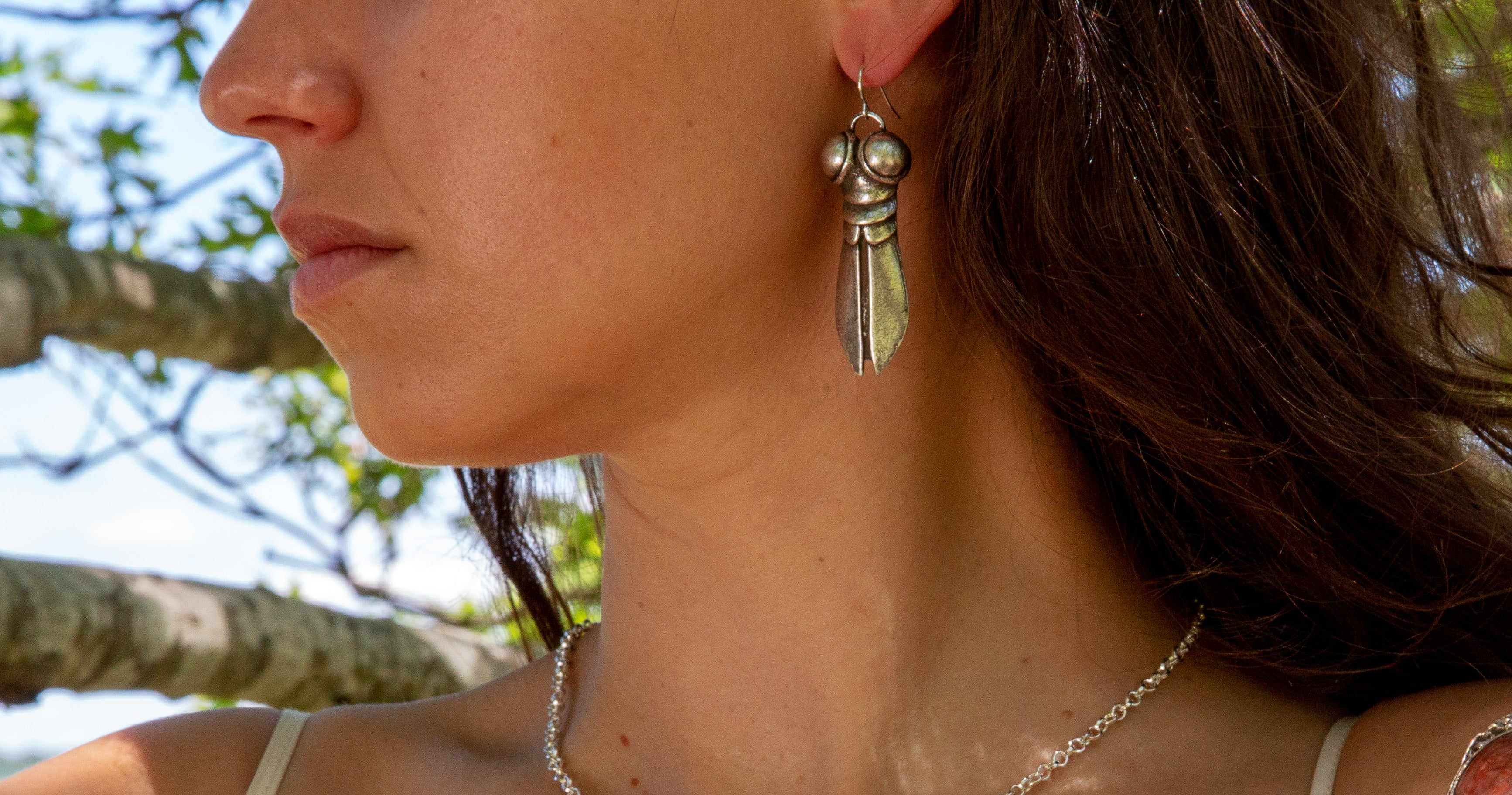 Silver-Plate Superfly Earrings