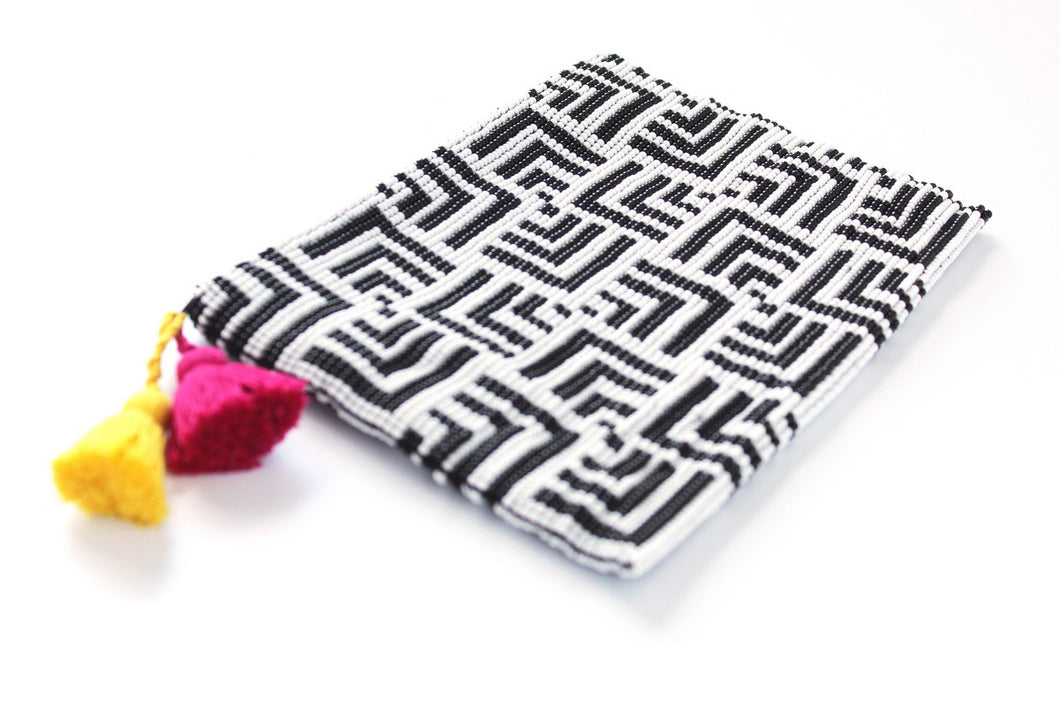 Labyrinth Glass Bead Clutch
