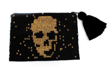 Load image into Gallery viewer, Skull Glass Bead Clutch