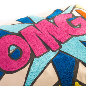 Pop art pillow – OMG 16 x 16