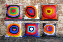 Load image into Gallery viewer, Embroidered pillow cover - Circles