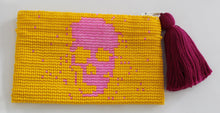 Load image into Gallery viewer, Skull Glass Bead Coin Purse