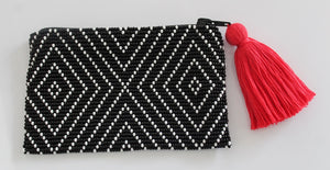Geo Black and White Coin Purse