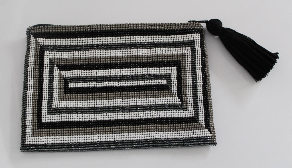 Rectangle Glass Bead Clutch