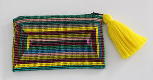 Rectangular Glass Bead Coin Purse