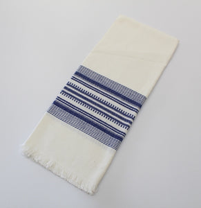 "Blue on White cotton napkins - cotton handwoven napkins -  cotton napkins blue color on white 18"" x 18"" set of 4"
