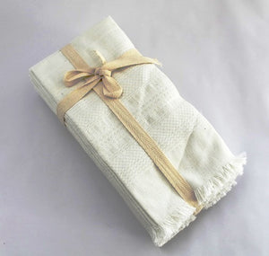 "White cotton napkins - cotton handwoven white napkins -  cotton napkins white color 18"" x 18"" set of 4"