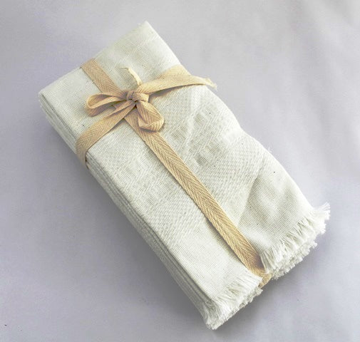 White cotton napkins - cotton handwoven white napkins -  cotton napkins white color 18