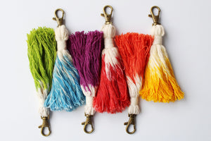 Tassel Keychain Set of 6 - Assorted