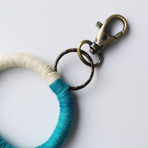 Cotton Circle Keychains - Set of 6