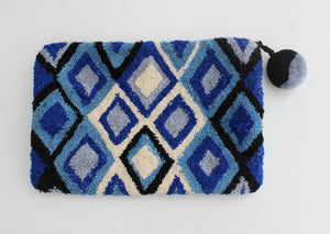 Cosmetic Bag - Geo Blue