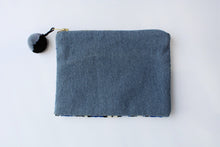 Load image into Gallery viewer, Cosmetic Bag - Geo Blue