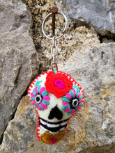 Load image into Gallery viewer, Wool Small Skull Keychain - Set of 12