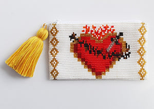 Corazon Partio Glass Bead Coin Purse