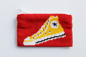 Glass Bead Coin Purse Hightops