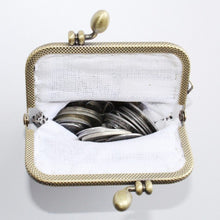 Load image into Gallery viewer, Glass Bead Coin Purse With Metal Frame - Venice