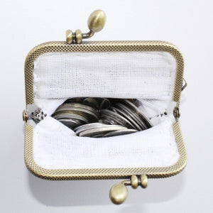 Glass Bead Coin Purse With Metal Frame - Venice