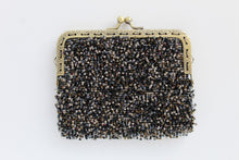 Load image into Gallery viewer, Glass bead with Metal Frame and Clasp Mini Pouch - Porcupine