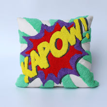 Load image into Gallery viewer, Pop art Pillow - KAPOW 16 x 16