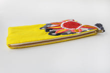 Load image into Gallery viewer, Embroidered Cosmetic Bag - Yellow