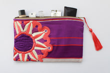 Load image into Gallery viewer, Embroidered Cosmetic Bag - Purple