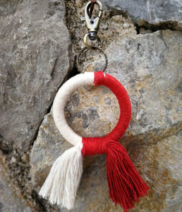 Circle Keychain red