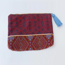 Load image into Gallery viewer, Clutch Maroon Brocade