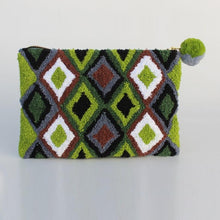 Load image into Gallery viewer, Cosmetic Bag - Geo Green