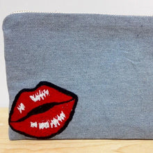 Load image into Gallery viewer, Cosmetic Bag - Pop-Art Hot Lips detail