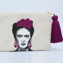 Load image into Gallery viewer, Frida Cosmetic Clutch detail