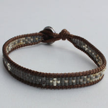 Load image into Gallery viewer, Bracelet  Miyuki glass beads on acrylic thread.