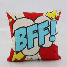 Load image into Gallery viewer, Pop art pillow – BFF 16 x 16