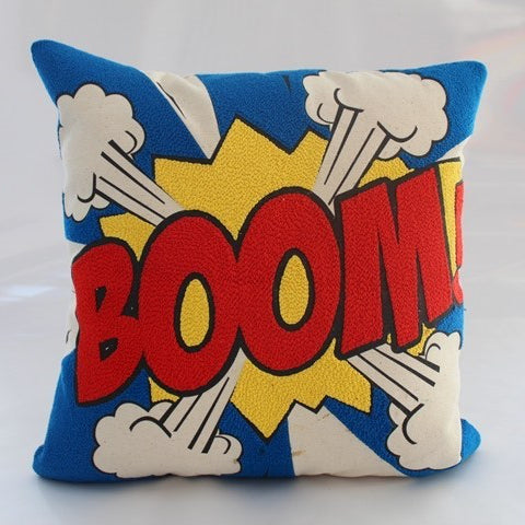 Pop art Pillow - BOOM 16 x 16