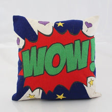 Load image into Gallery viewer, Pop art pillow – WOW 16 x 16