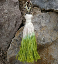 Load image into Gallery viewer, Tassel Keychain green