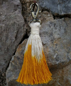 Tassel Keychain orange