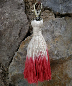Tassel Keychain red