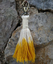 Load image into Gallery viewer, Tassel Keychain yellow