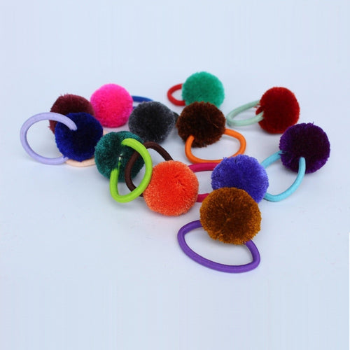 Wineglass Pompom Charms - Set of 12 units