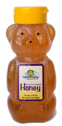 Honeyville Pure Mountain Wildflower Honey - Baby Bear 12 oz
