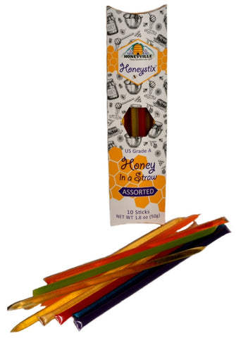 Honeyville HoneyStix Assorted 10 Count